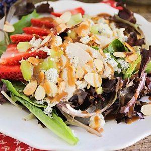 Strawberry Balsamic Chicken Salad