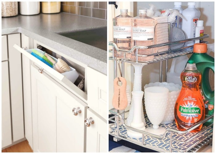 under kitchen sink organizer