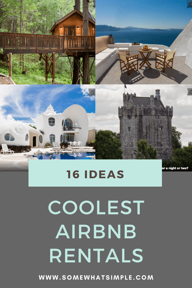 Make your next vacation even more unforgettable with one of our 16 favorite Airbnb rentals that you can rent for under $250/night. These are some of the coolest rental options available that will give you a truly unforgettable vacation. #bucketlist #airbnb #traveltips #bestairbnbrentals #airbnbideas via @somewhatsimple