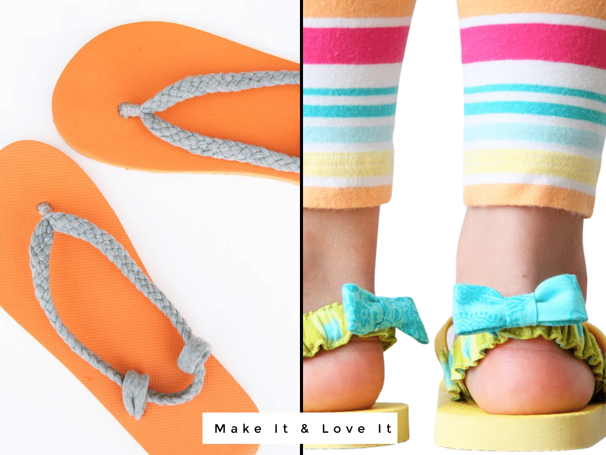 2 flip flop crafts for kids