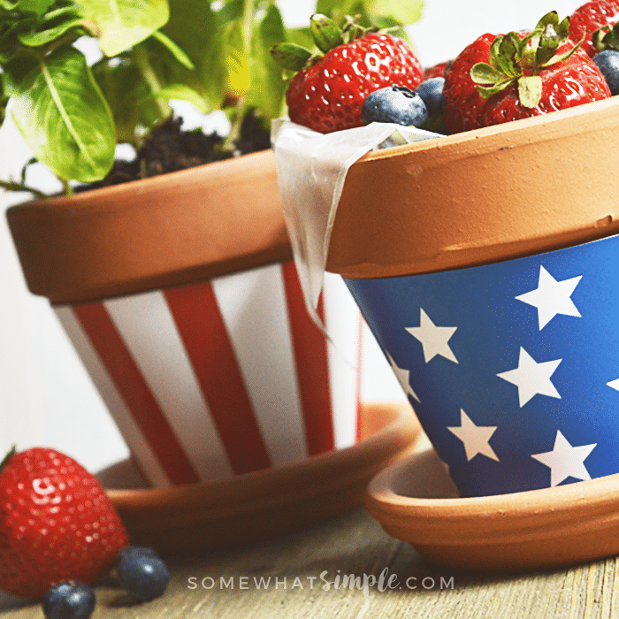 FREE PRINTABLE fourth of july decor pots