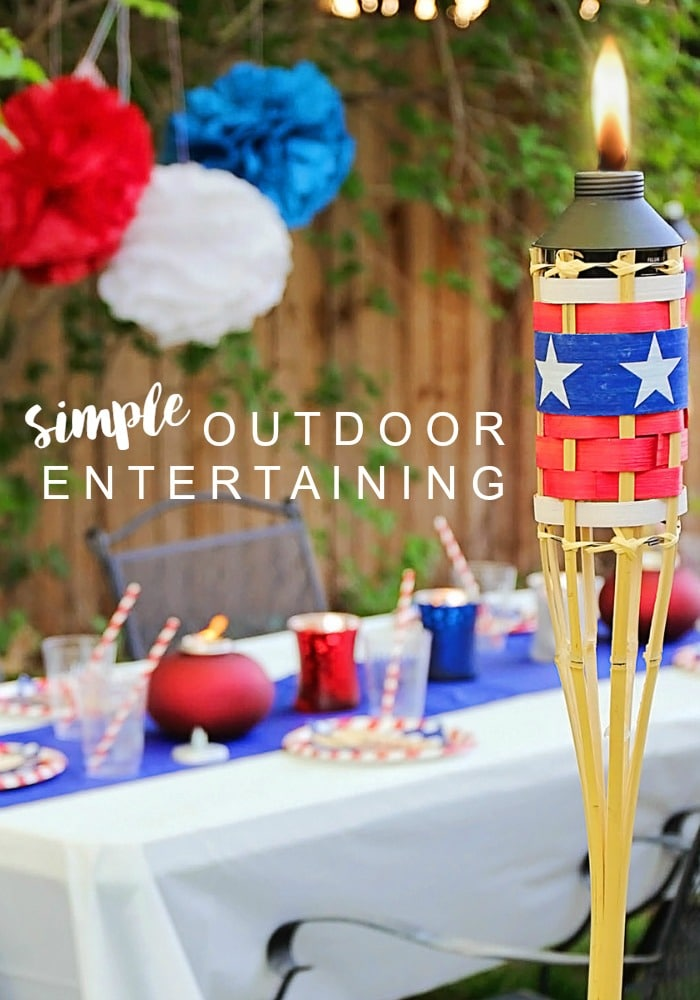 Simple Outdoor Entertaining