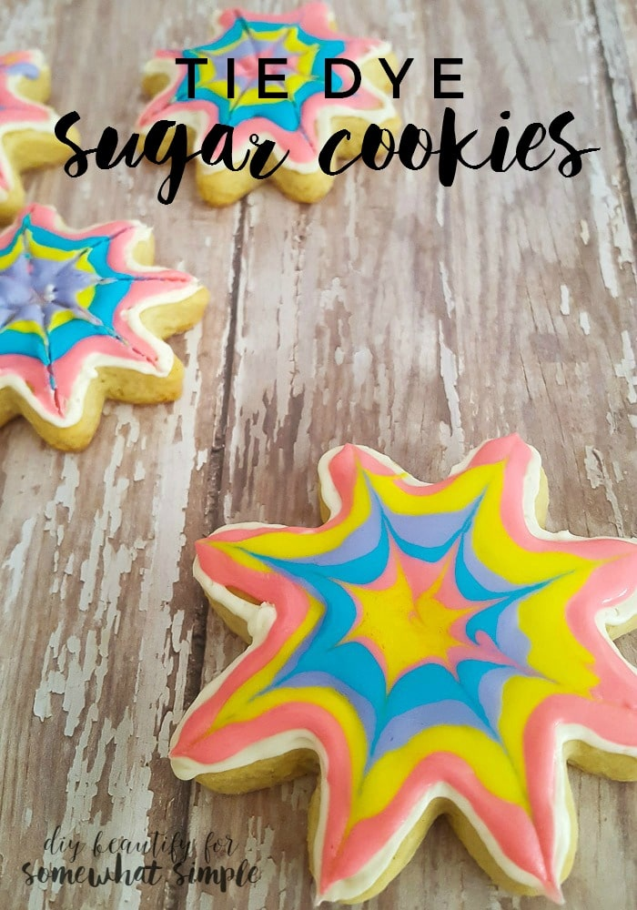 Tie Dye Sugar Cookies from Somewhat Simple