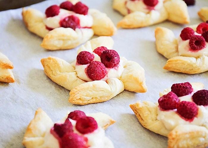 Easy Raspberry Pastries