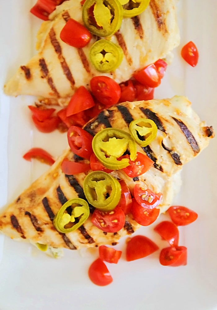Spicy Stuffed Grilled Chicken Breasts