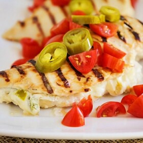 Spicy Stuffed Grilled Chicken
