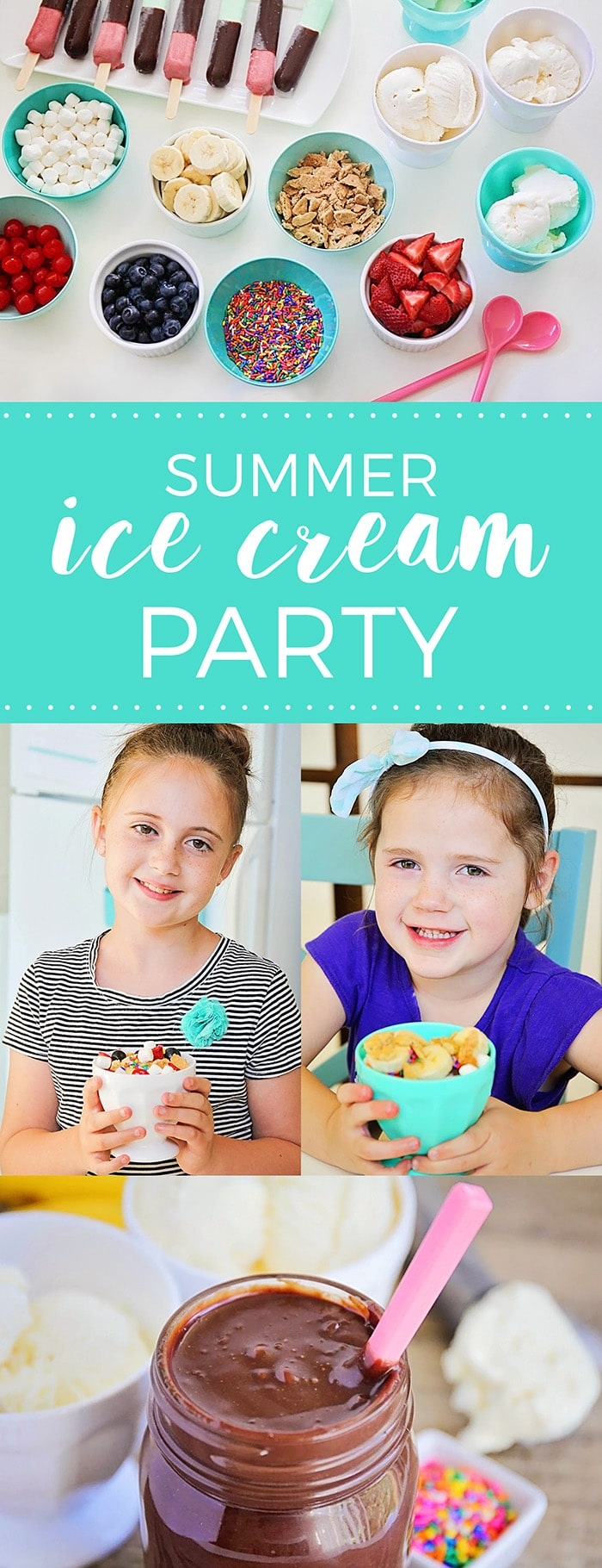 Stay cool this summer with a fun and easy summer ice cream party! via @somewhatsimple