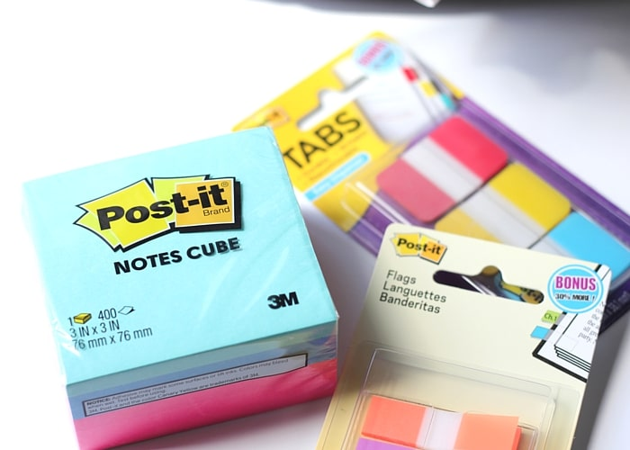 Back to School Organization - Post-It Note Products