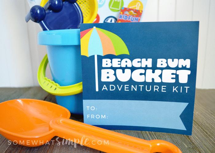 Beach bum bucket kit gift idea