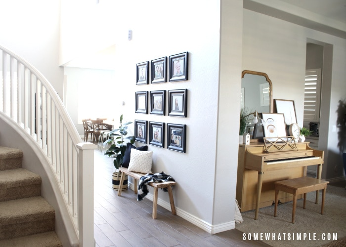 the entry way of a home