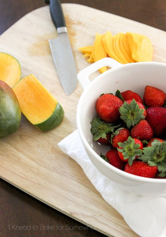 Healthy Tropical Fruit Tart-5