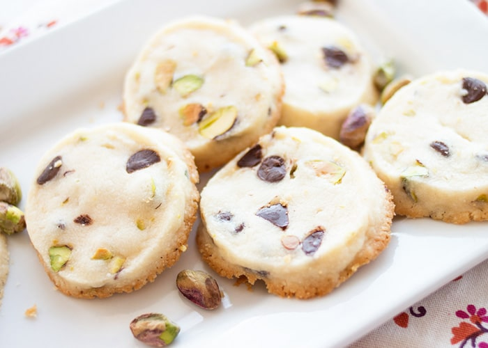 Lemon Pistachio Shortbread Cookies - Somewhat Simple
