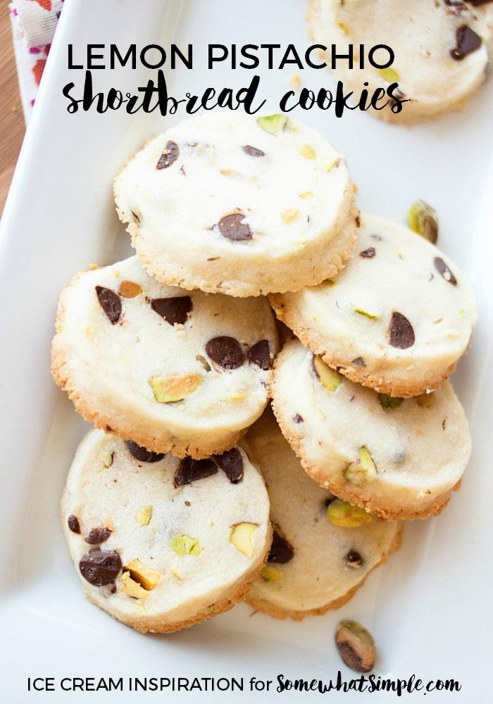 Lemon Pistachio Shortbread Cookies