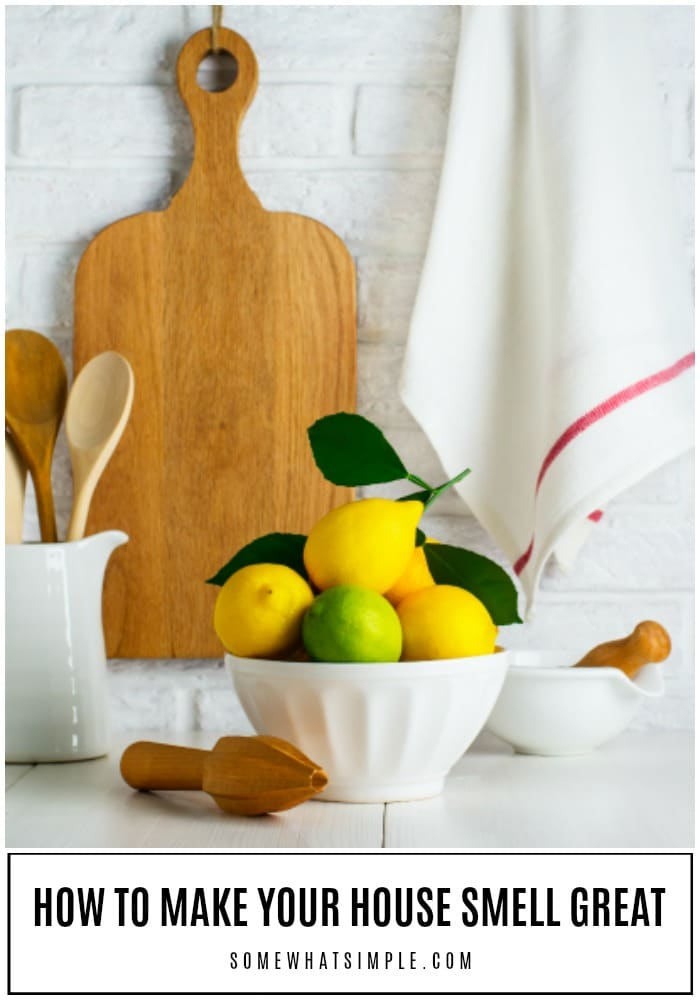 Lemons and limes in a bowl on the table in the kitchen to make your house smell good