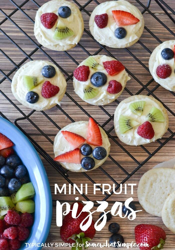 Mini Fruit Pizzas via @somewhatsimple