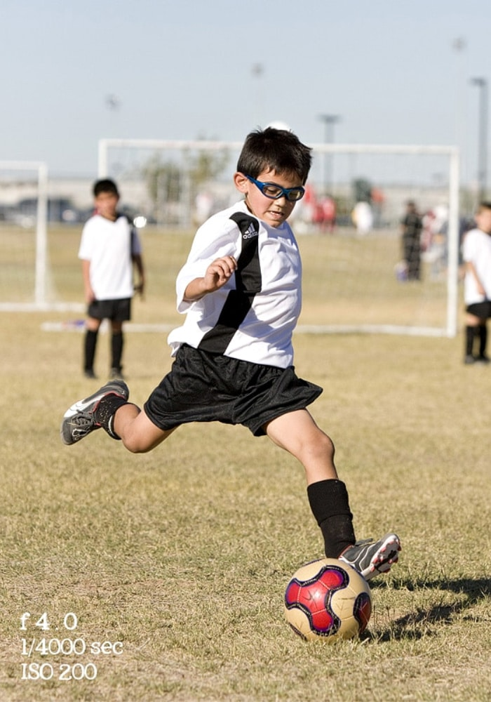 fact shutter speed for kids sports