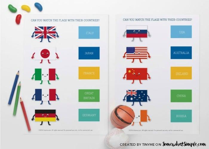 Summer Olympics Activity Sheets 8