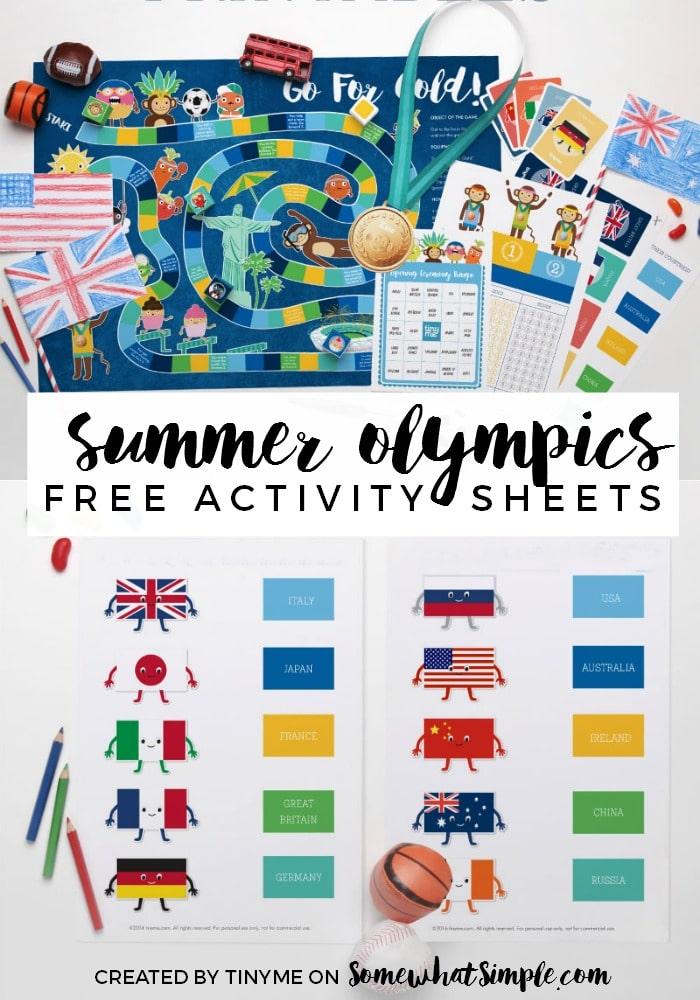 Summer Olympics Activity Sheets