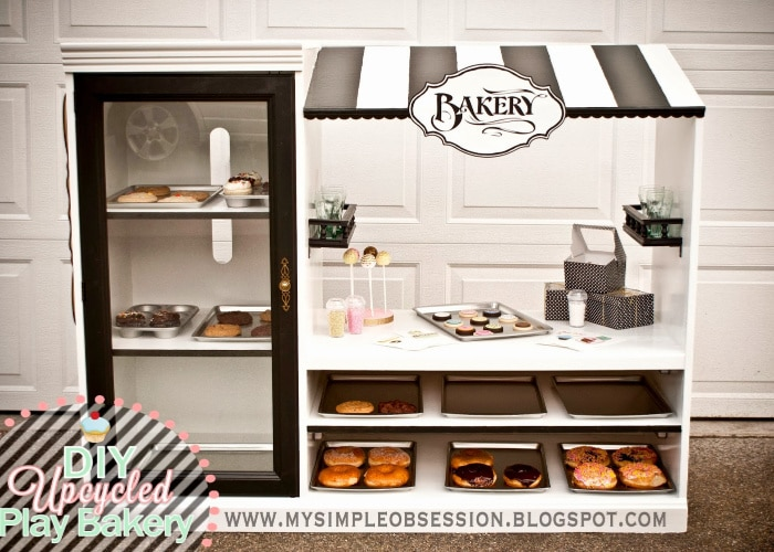 a tv cabinet turned into a little bakery shop