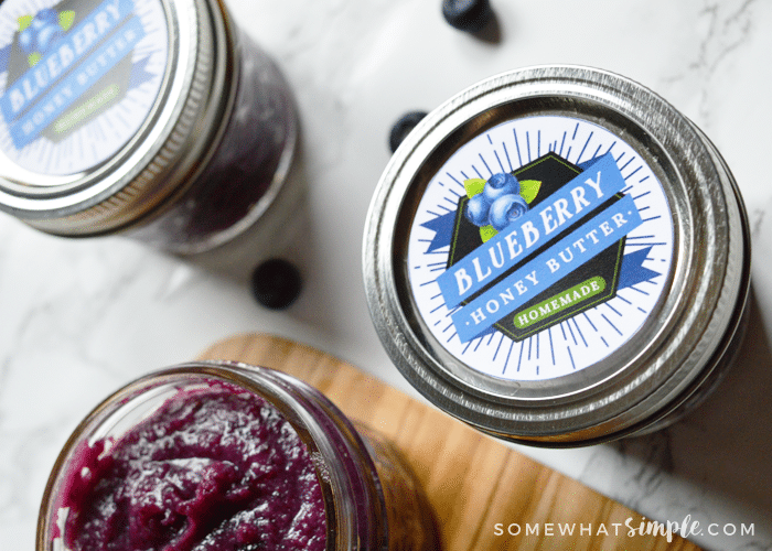 blueberry honey butter jars