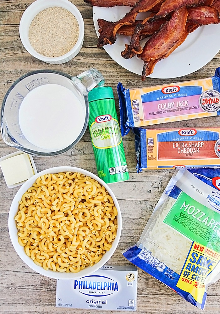 Five Cheese Bacon Mac and Cheese Recipe