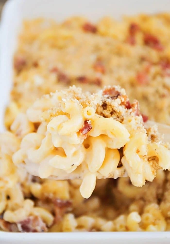 how to make baked mac and cheese with bacon