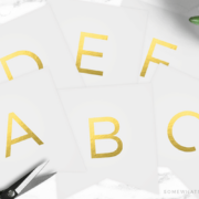 gold letters made into a banner
