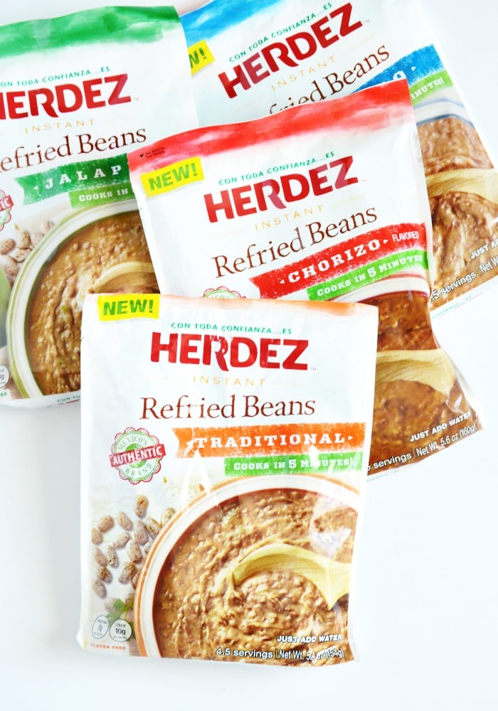 packages of herdez refried beans
