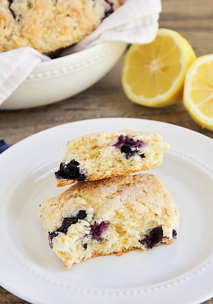 a flaky Lemon Blueberry Scone