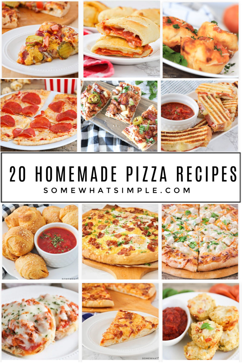 collage of 12 pizza recipes