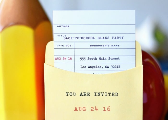 Back to School Party Invite