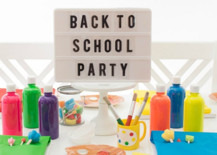 Back to School Art Party