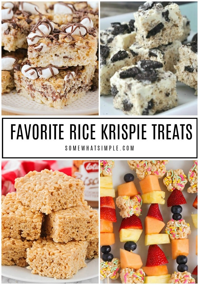 We're taking the classic Rice Krispie treats recipe and mixing it up! Here are 10 Rice Krispies that are not only delicious, they are also super simple to make! #ricekrispietreats #ricekrispies #ricecrispytreats #ricekrispytreatsoriginalrecipe