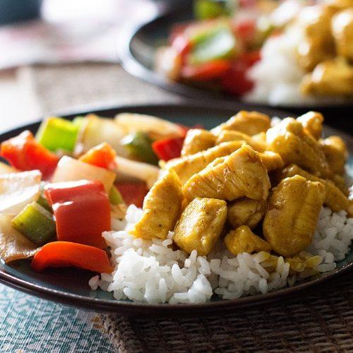 Honey Mustard Curry Chicken