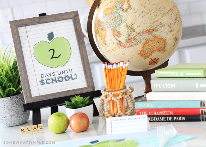 Back to School Dinner | Fun Family Idea + Printable Kit!