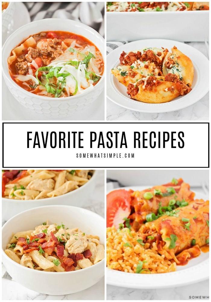 30 Favorite Pasta Recipes