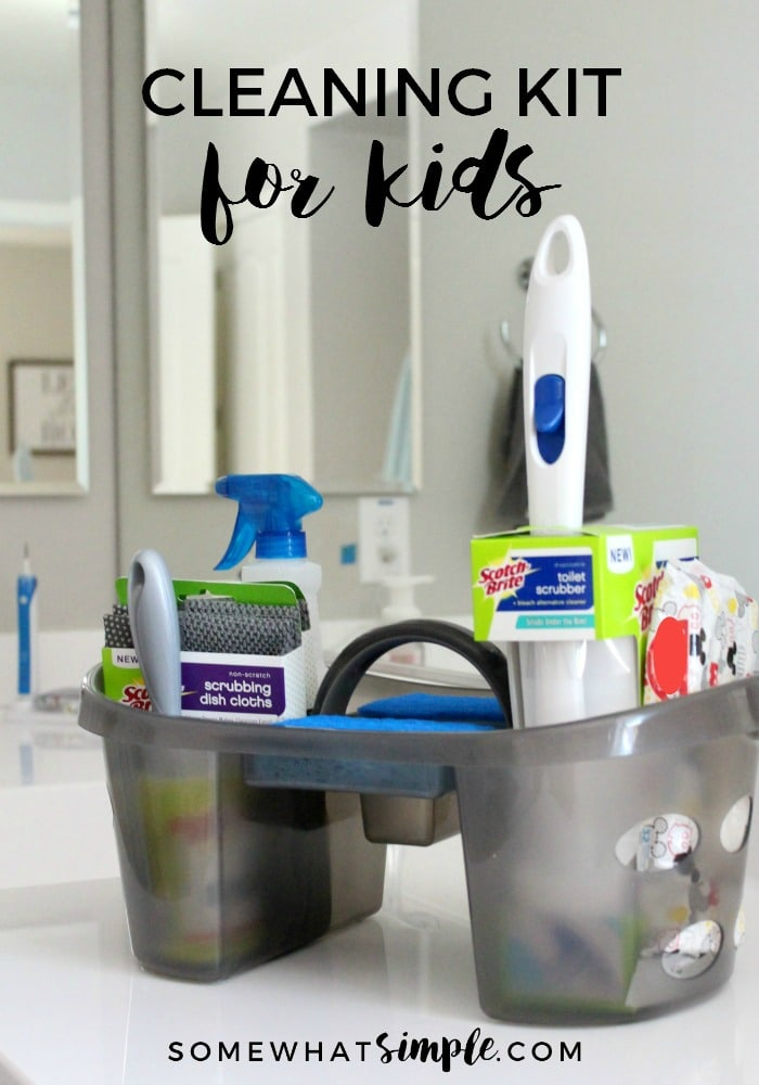 A Cleaning Kit for Kids is the perfect way to get your children excited about completing their chores! #CleanFeelsGood #ad via @somewhatsimple
