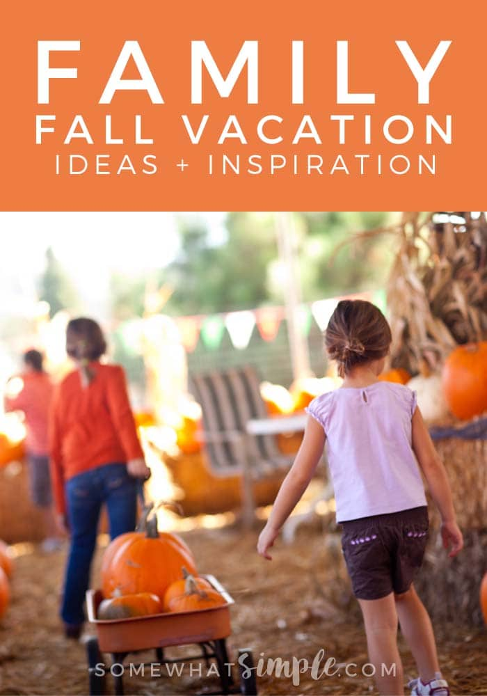 Travel - Fall Family Vacation Ideas - Make this Fall a little more festive, and build some great family memories! via @somewhatsimple