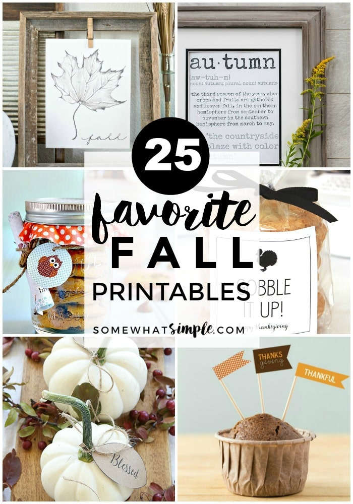 If you're like me and LOVE crisp air and cozy sweaters, just you wait - today we're sharing some of our favorite fall printables - which means Fall is about to get even better!