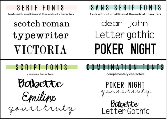 cricut fonts and vinyl projects