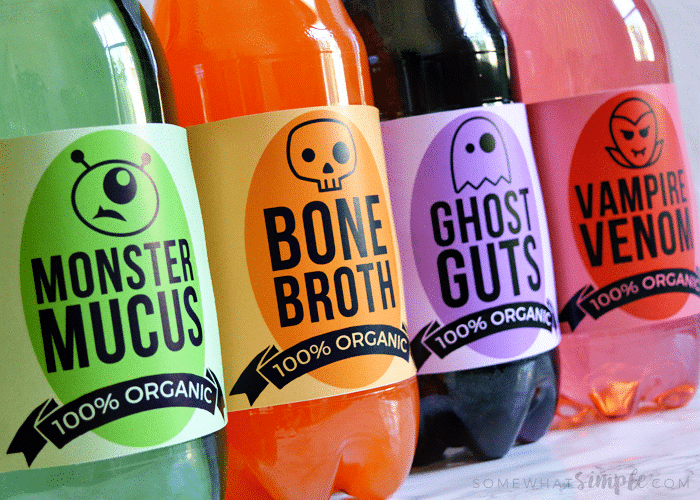 halloween soda labels free printable somewhat simple
