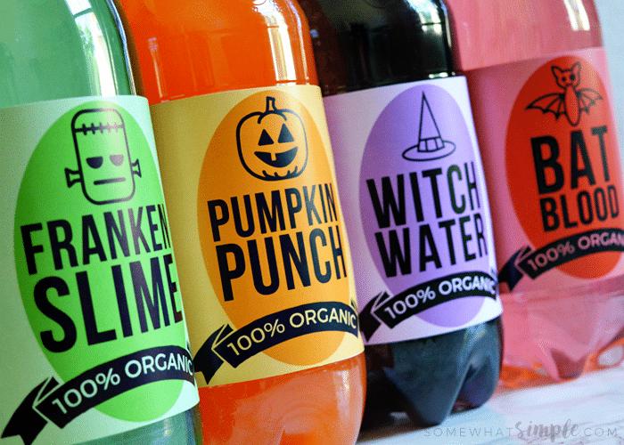 halloween soda labels free printable