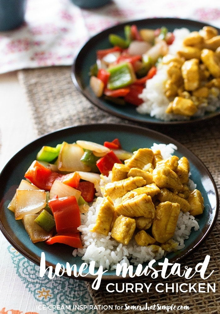 This honey mustard curry chicken is easy to prepare and tastes amazing! Made with the delicious combination of honey and mustard you won't be able to resist. #honeymustardchicken #currychicken #honeymustardcurrysauce #bakedhoneymustardchicken #honeymustardcurrychickenrecipe via @somewhatsimple