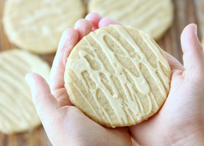 Maple Sugar Cookies topped with a glaze