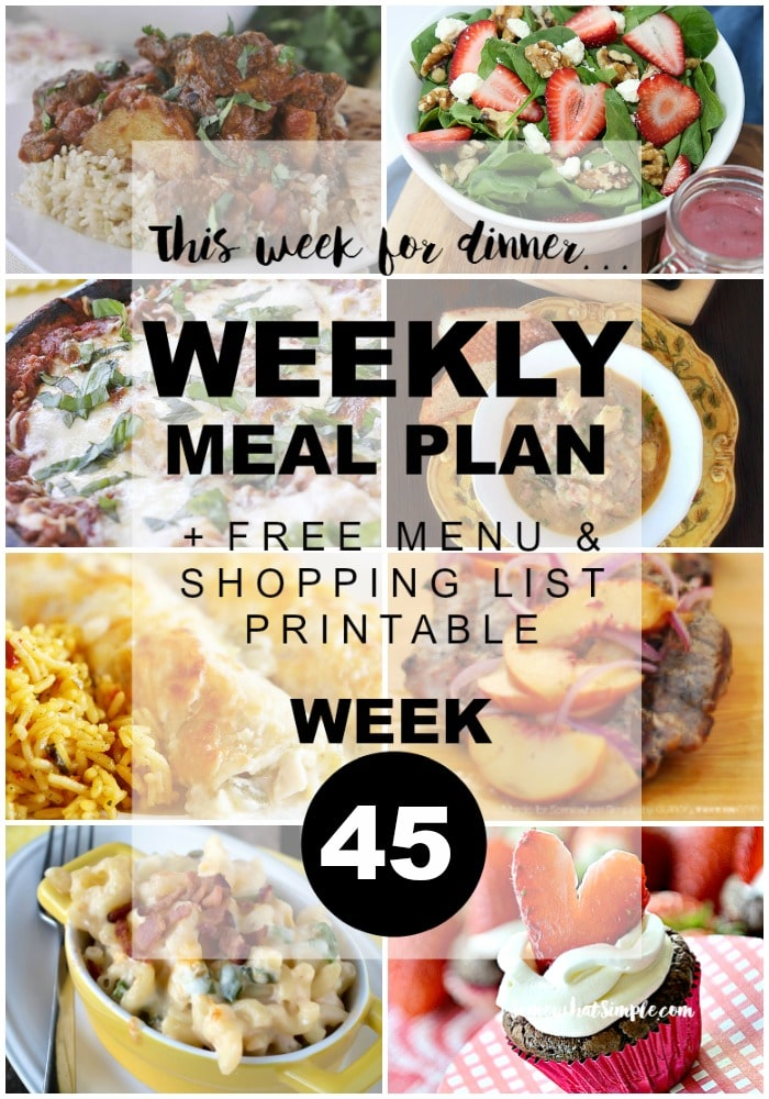 weekly menu plan week 45 let s eat somewhat simple