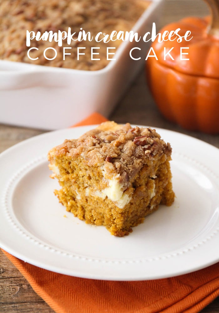 Pumpkin Cream Cheese Coffee Cake