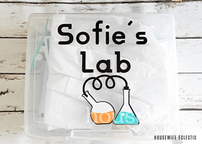 a plastic lab kit