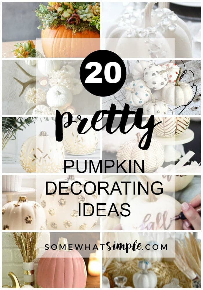 Crafts - Pumpkin Decorating Ideas for perfect Fall Decor via @somewhatsimple