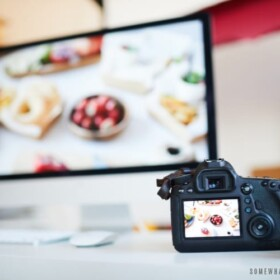 food photography concept with camera - join our team