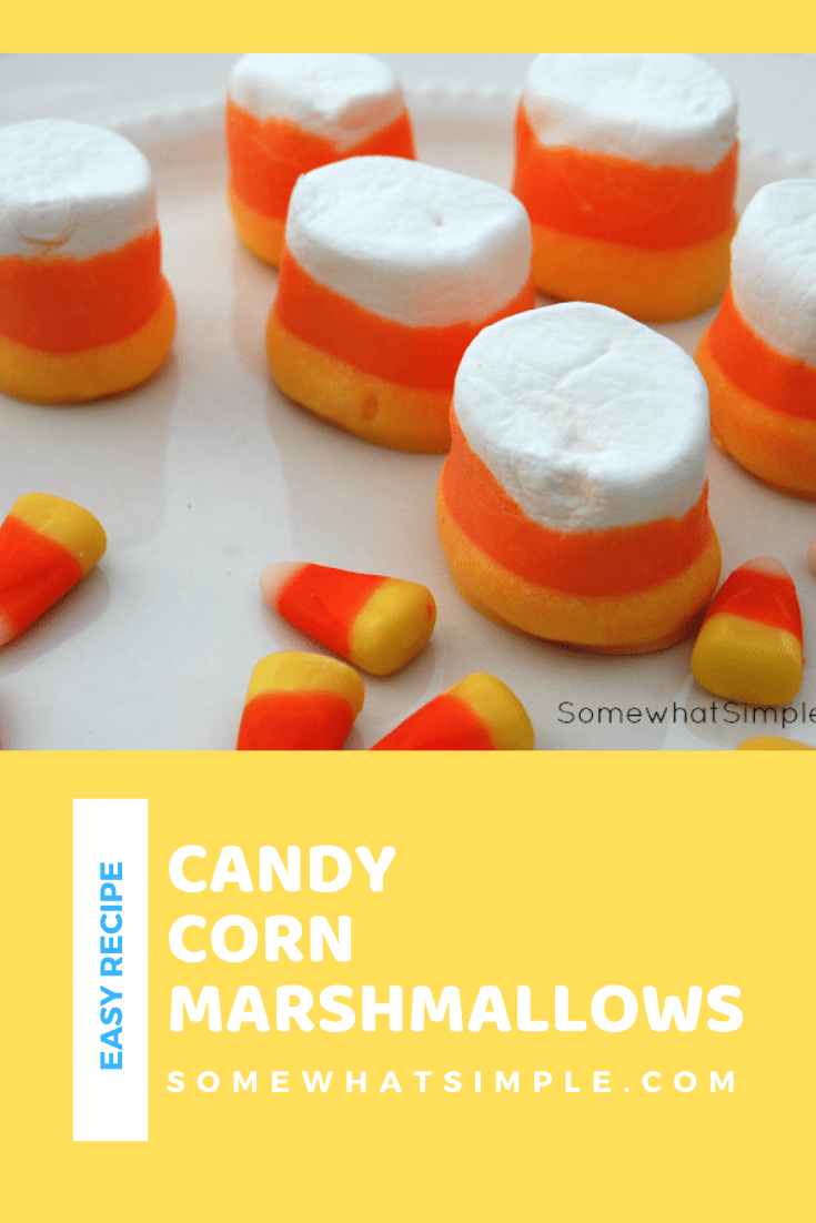 These festive marshmallows are a perfect fall treat. Just grab a bag of jumbo marshmallows and some colored chocolate melts and get started. These delicious treats are super easy to make and will be ready in just a few minutes. via @somewhatsimple